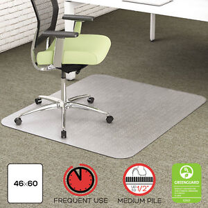 Deflecto Environmat Recycled Anytime Use Chair Mat For Med Pile Carpet 46 X 60