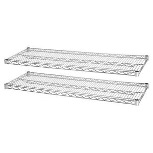Lorell Industrial Wire Shelving 2 Extra Shelves 36 x24 2 pk Ce 84186