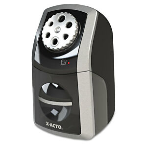 X acto Sharpx Performance Electric Pencil Sharpener Black silver 1772