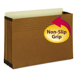 Smead Easy Grip File Pocket Legal 5 1 4 Exp Redrope 10 box 74285