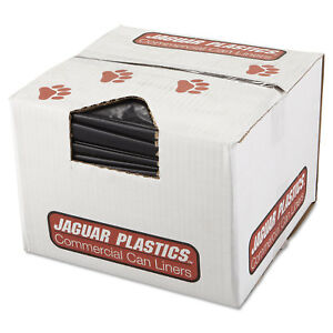 Jaguar Plastics Repro Low density Can Liners 2 Mil 38 X 58 Black 10 Bags roll 10