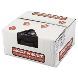 Jaguar Plastics Repro Low density Can Liners 1 5 Mil 40 X 46 Black 10 Bags roll