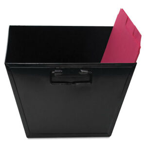 Advantus Steel File And Storage Bin Letter 12 1 8 X 11 1 4 X 7 3 8 Black 63008