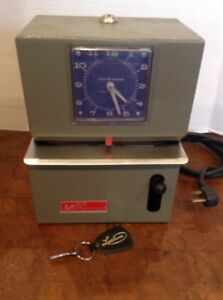 Lathem Time Clock 2121 Working Punch Clock