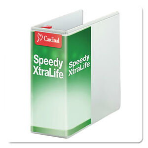Cardinal Speedy Xtralife Non stick Locking Slant d Ring Binder 5 Cap 11 X 8 1 2