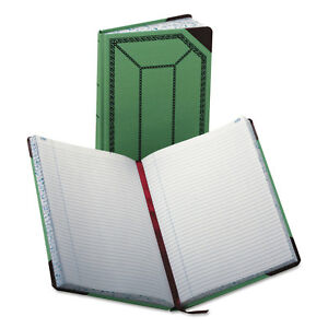 Boorum Pease Record account Book Record Rule Green red 300 Pages 12 1 2 X 7 5