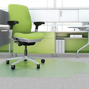 Deflecto Recycled Chairmat 46 x60 Wide Lip 25 x12 Clear Cm1k432fpet