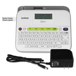 Brother P touch Pt d400d Versatile Label Maker With Ac Adapter White Ptd400ad