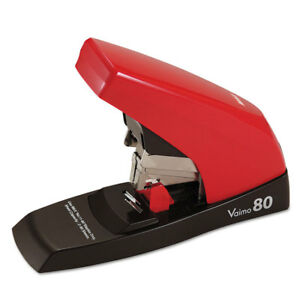 Max Vaimo 80 Heavy duty Flat clinch Stapler 80 sheet Capacity Red brown Hd11ufl
