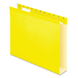 Pendaflex Reinforced 2 Extra Capacity Hanging Folders 1 5 Tab Letter Yellow 25