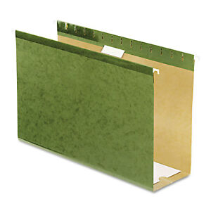 Pendaflex Reinforced 4 Extra Capacity Hanging Folders Legal Standard Green 25