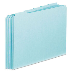 Pendaflex Top Tab File Guides Blank 1 5 Tab 25 Point Pressboard Letter 100 box