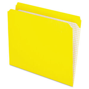 Pendaflex Reinforced Top Tab File Folders Straight Cut Letter Yellow 100 box