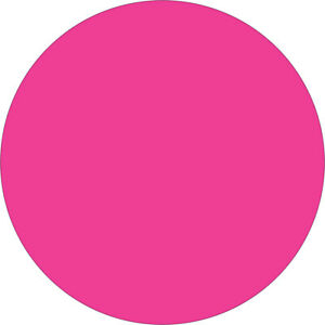 Tape Logic Inventory Circle Labels 1 Fluorescent Pink 500 roll Dl611k