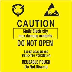 Tape Logic Labels contents Subject To Static Damage 3 X 3 Black yellow 500 r