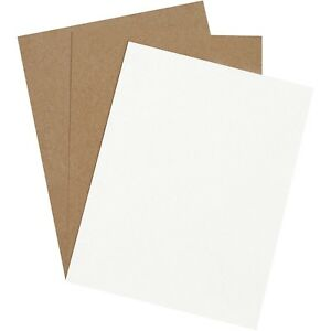 Box Partners Chipboard Pads 8 1 2 X 11 White 960 case Cp8511w
