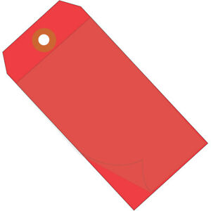 Box Partners Self Laminating Tags 6 1 4 X 3 1 8 Red 100 case G26029