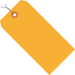 Box Partners Shipping Tags Pre wired 13 Pt 5 3 4 X 2 7 8 Fluorescent Orange