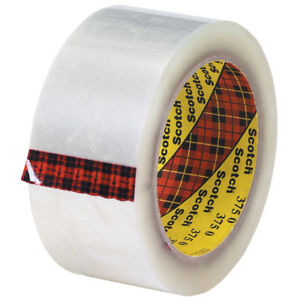 Scotch 3m 375 Carton Sealing Tape 3 1 Mil 2 X 55 Yds Clear 6 case T9013756pk