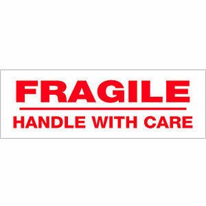 Tape Logic Pre printed Carton Sealing Tape fragile Handle With Care 2 2 Mil 2
