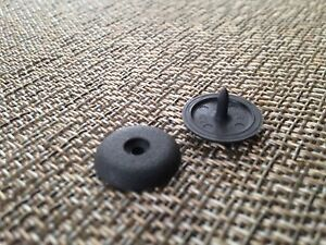 1 Nissan Seat Belt Stop Grey Button Stopper Universal Kit