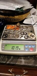 Lot Of Sterling Silver Jewelry Some Scrap Some Not Over 100 Total Grams 6