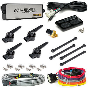 Accuair E level Air Suspension Leveling Kit Electronic Air Bag System Black