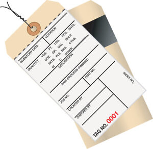 Box Partners Inventory Tags 2 Part Carbon Style 8 Pre wired 0001 0499 6 1 4