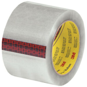 Scotch 3m 313 Carton Sealing Tape 2 5 Mil 3 X 110 Yds Clear 6 case T9073136pk