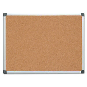 Mastervision Value Cork Bulletin Board With Aluminum Frame 36 X 48 Natural