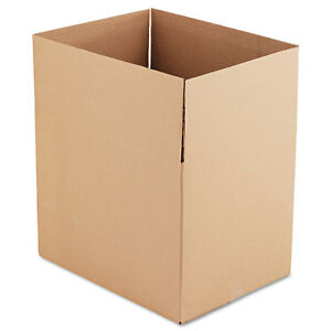 General Supply Brown Corrugated Fixed depth Shipping Boxes 24l X 18w X 18h 10