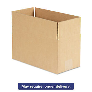 General Supply Brown Corrugated Fixed depth Shipping Boxes 12l X 6w X 6h 25
