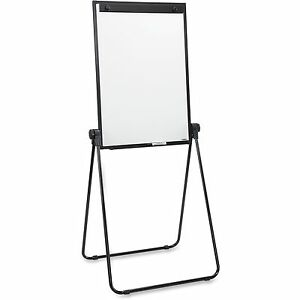 Lorell 2 sided Dry Erase Easel 24 x36 x67 Black 55629