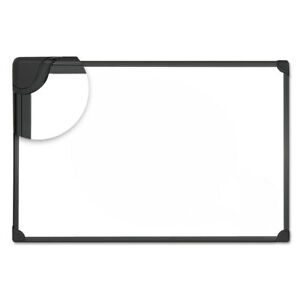 Universal Design Series Magnetic Steel Dry Erase Board 36 X 24 White Black Frame