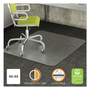 Deflecto Duramat Moderate Use Chair Mat For Low Pile Carpet 45 X 53 Clear