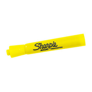 Sharpie Accent Highlighters Yellow 12 case Mk601ye