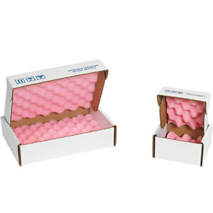 Box Partners Anti static Foam Shippers 18 X 12 X 2 3 4 Pink white 24 case