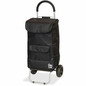 Dbest Products Shopping Trolley Dolley Beverage Holder 15 x13 x38 Black 01517
