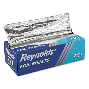 Reynolds Wrap Pop up Interfolded Aluminum Foil Sheets 12 X 10 3 4 Silver 500 box