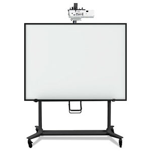 Mastervision Interactive Board Mobile Stand With Projector Arm 76w X 26d X 86h