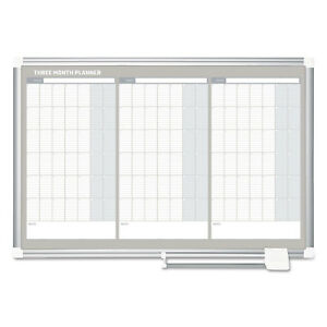 Mastervision Magnetic Dry Erase Calendar Board 36 X 24 Silver Aluminum Frame