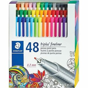 Staedtler Porous Point Pens 0 3mm Metal Clad Tip 48 st Assorted 334c48