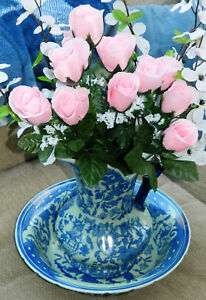 Vintage Victoria Ware Fantasy Ironstone Large Pitcher And Bowl Or Basin