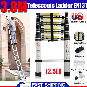 Protable 12 5ft Multi Purpose Telescopic Aluminum Ladder Extension Steps En131