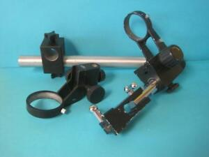 Lot Of Unbranded Microscope Stand Parts Mount Boom Arm 3 3 3 8 Heavy Duty Lab