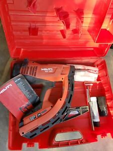 Hilti Gx120 Gm40 Fully Automatic Gas Actuated Nail Gun Fastening Tool W Case
