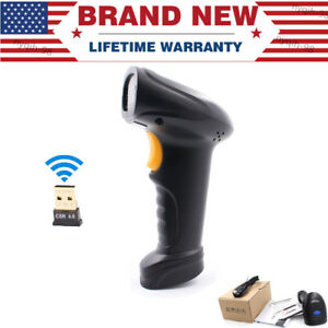 2 4g Bluetooth Wireless Laser Usb Barcode Scanner Scan Gun Label Reader For Pos