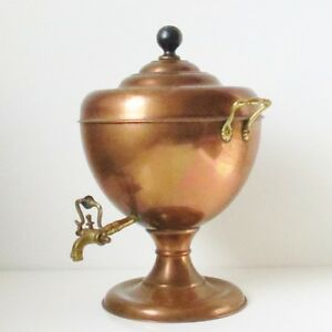 Red Copper Antique Samovar Brass Coffee Teapot Water Kettle
