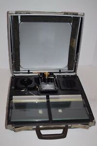 Microimage Display Portable Ii Microfiche Reader W case
