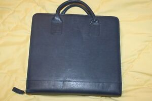 Slate Blue Monarch 1 75 Ring Leather Franklin Covey Zip Planner Binder Handles